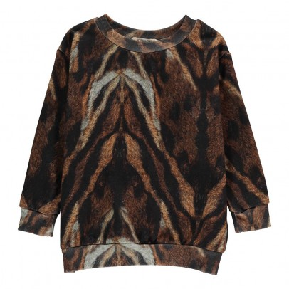 POPUPSHOP Sweat Tigre Coton Bio-listing