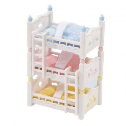 Sylvanian Lits superposés à 3 couchettes bébés-listing