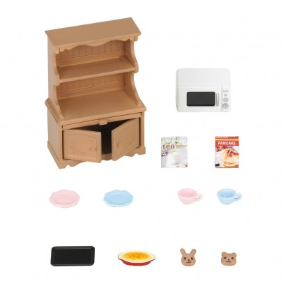 Sylvanian Kitchen Cabinet with Microwave-listing