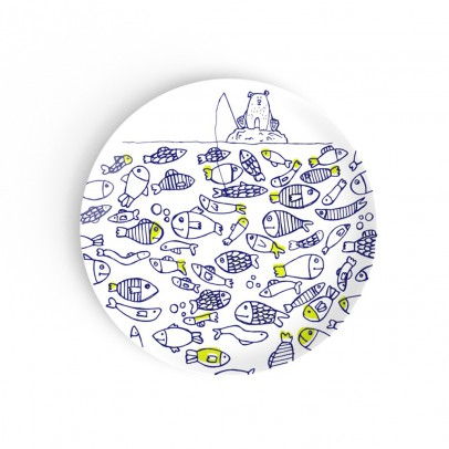 Non Sans Raison Kids The Fish Twins Dessert Plate-listing