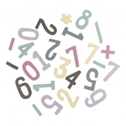 Sebra Set de chiffres magnétiques en bois fille-listing