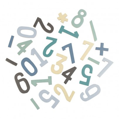 Sebra Set de cifras magnéticas en madera niño-listing