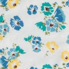 Le Petit Lucas du Tertre Bavoir en coton doublé éponge Fleurs-listing