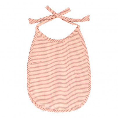 Le Petit Lucas du Tertre Double Cotton Padded Striped Bib-listing