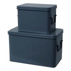 product-Present Time Scatole Portaoggetti Metallo - Set da 2