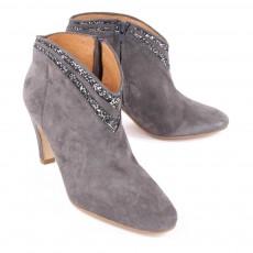 Petite Mendigote Boots Talons Suède Granier-listing