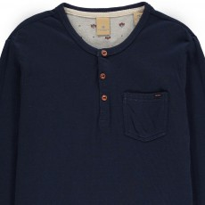 Scotch & Soda Tunisien Double Jersey Manches Ajustables-listing