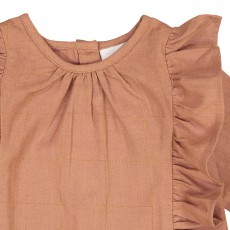 Louis Louise Blouse Volants Carreaux Lurex Eline-listing