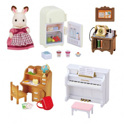 Set muebles y figurķn para cottage
