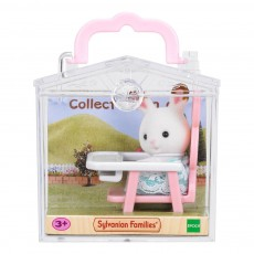 Sylvanian Baby Carry Case Rabbit in High Chair-listing