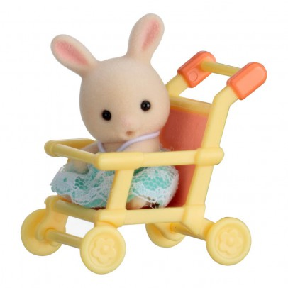 Sylvanian Baby Carry Case Rabbit in Pushchair-listing