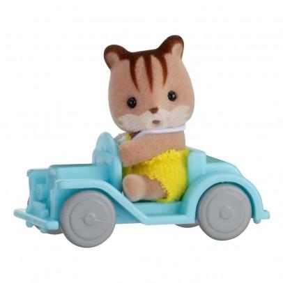 Sylvanian Valisette Bébé écureuil et voiture-listing