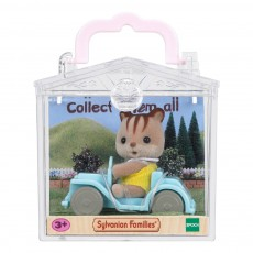 Sylvanian Baby Carry Case Squirrel in Car-listing