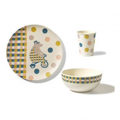 Engel Set vaisselle Cirque en bambou-listing