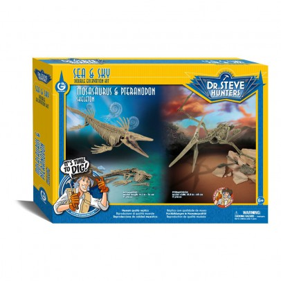 Dr Steve Hunters Dino Ausgrabungs-Set -Mosasorus & Pteranodon -listing
