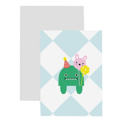 Noodoll Celebration Dino Card and Bookmark-listing