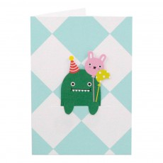 Noodoll Celebration Dino Card and Bookmark-product