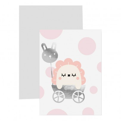 Noodoll Carte avec marque page Baby girl-listing