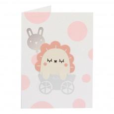 Noodoll Karte mit Lesezeichen Baby Girl -listing