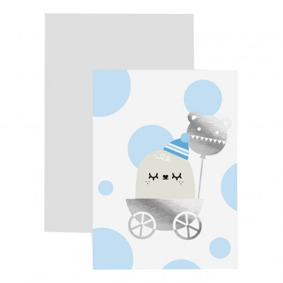 Noodoll Baby Boy Card and Bookmark-product