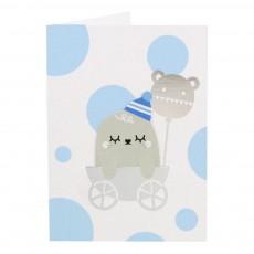 Noodoll Biglietto con segnalibro Baby boy-listing