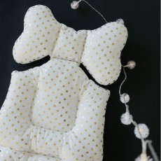 Borny Cojín Confort bebé Bling lunares dorados-listing