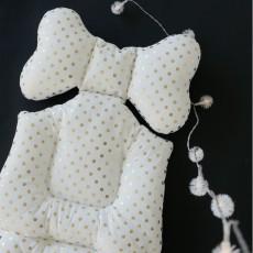 Borny Coussin confort bébé Bling pois dorés-listing
