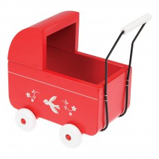 product-Rex Red Wooden Mini-Pram