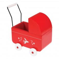 Rex Mini carrito en madera rojo-listing