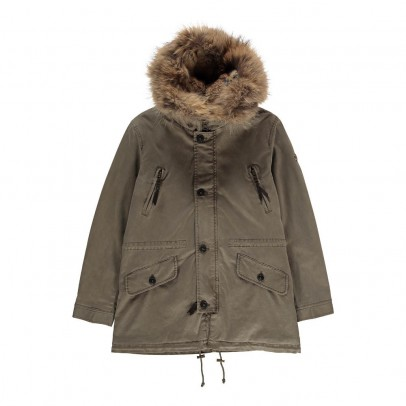 Blonde No.8 Aspen Parka with Fur Hood-listing