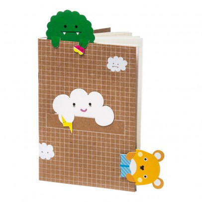 Noodoll Small Notebook with Cloud Bookmark-product