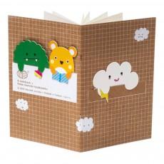 Noodoll Petit carnet avec marque page nuage-listing