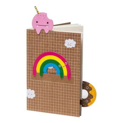 Noodoll Small Notebook with Rainbow Bookmark-product