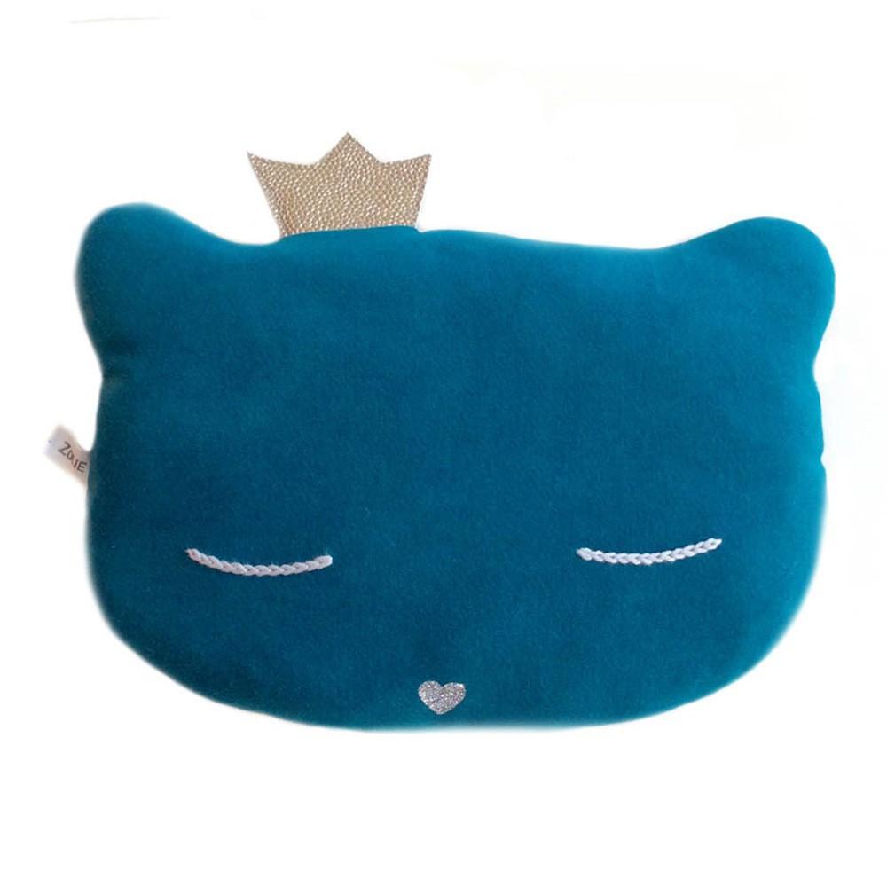 Doudou coussin chat avec couronne 28x20 cm-product