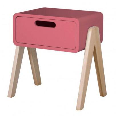 Laurette Mesa de noche Robot pequeño pies en madera natural-listing