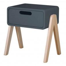 product-Laurette Natural Wooden Foot Little Robot Bedside Table