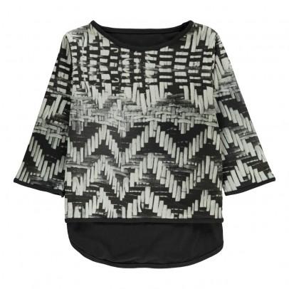 POPUPSHOP T-Shirt Asymétrique Coton Bio-listing