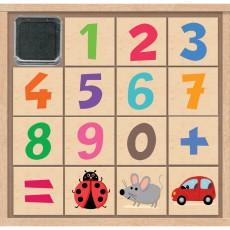 Crea lign' Caja sellos los números-listing