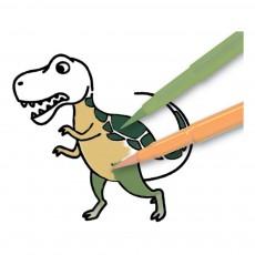 Crea lign' Giant Dinosaur Stamps-listing