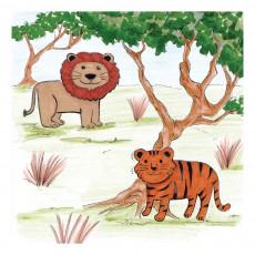 Crea lign' Riesen Stempelset safari-listing