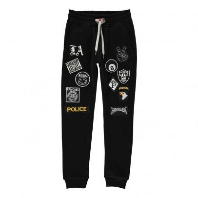 Sweet Pants Jogger Slim Patchs aus Molton-listing