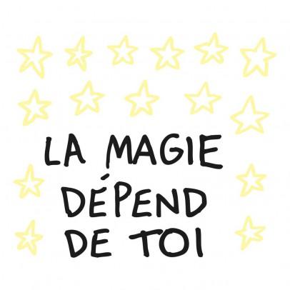 Chispum Sticker Leuchtstoff die Magie hängt von Dir ab. -listing