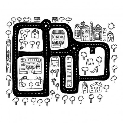 Chispum City Map Sticker-listing