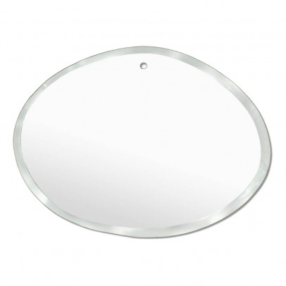 M Nuance Extra Thin Bevelled Mirror - Random Horizontal Oval Form 55x40 cm -listing