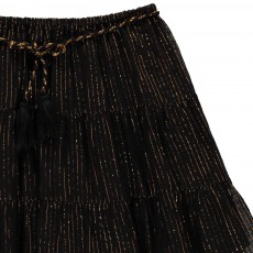 Zef Lurex Striped Skirt-listing