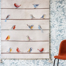Art For Kids Woollen Kilim Birds Rug-listing