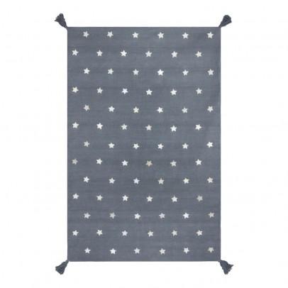 Art For Kids Teppich aus Baumwolle und Leder Stars grau-listing