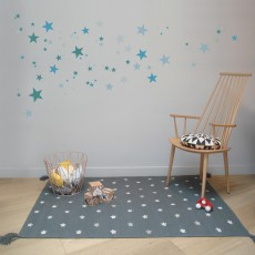 Art For Kids Tappeto Cotone e Cuoio Stelle Grey-listing