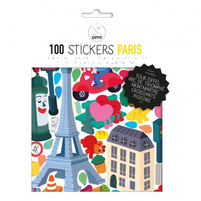 Omy Planche de stickers muraux Paris - 100 stickers-product