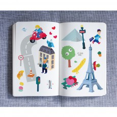 Omy Planche de stickers muraux Paris - 100 stickers-listing
